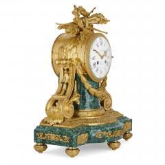 Jean Antoine L pine Antique French gilt bronze mounted malachite clock set - 1451642
