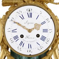 Jean Antoine L pine Antique French gilt bronze mounted malachite clock set - 1451653