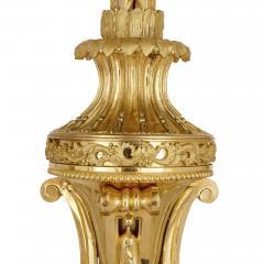 Jean Antoine L pine Antique French gilt bronze mounted malachite clock set - 1451679