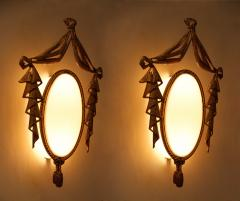 Jean BARAT Very Elegant Pair of Bronze Sconces by J Barat - 774462