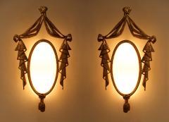 Jean BARAT Very Elegant Pair of Bronze Sconces by J Barat - 774463