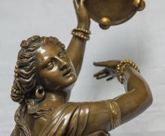 Jean Baptiste Clesinger A Finely Casted Patinated Bronze Sculpture of a Dancer Zingara - 1468878
