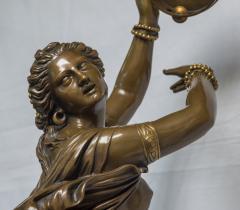 Jean Baptiste Clesinger A Finely Casted Patinated Bronze Sculpture of a Dancer Zingara - 1468880