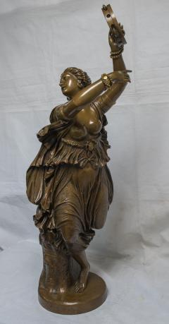 Jean Baptiste Clesinger A Finely Casted Patinated Bronze Sculpture of a Dancer Zingara - 1468881