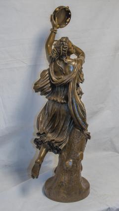 Jean Baptiste Clesinger A Finely Casted Patinated Bronze Sculpture of a Dancer Zingara - 1468882