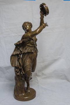 Jean Baptiste Clesinger A Finely Casted Patinated Bronze Sculpture of a Dancer Zingara - 1468883