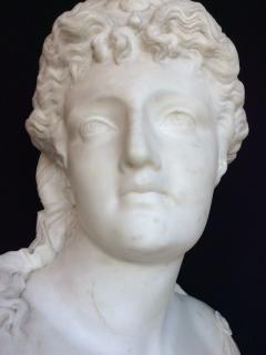 Jean Baptiste Clessinger White marble sculpture depicting Diana by Jean Baptiste Clessinger 1800 c a - 1312318
