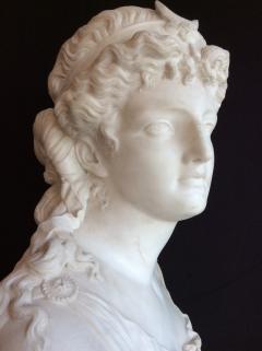 Jean Baptiste Clessinger White marble sculpture depicting Diana by Jean Baptiste Clessinger 1800 c a - 1312319