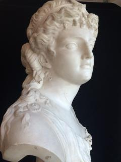 Jean Baptiste Clessinger White marble sculpture depicting Diana by Jean Baptiste Clessinger 1800 c a - 1312321