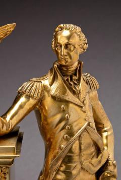 Jean Baptiste Dubuc Important Washington Bronze Mantel Clock - 243346