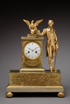 Jean Baptiste Dubuc Important Washington Bronze Mantel Clock - 243347