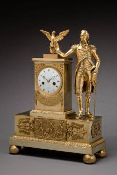Jean Baptiste Dubuc Important Washington Bronze Mantel Clock - 243348
