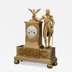 Jean Baptiste Dubuc Important Washington Bronze Mantel Clock - 243653