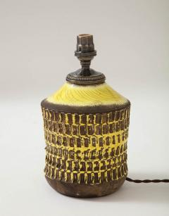 Jean Besnard Jean Besnard Rare Yellow Glaze Ceramic Lamp with Custom Parchment Shade - 1246426