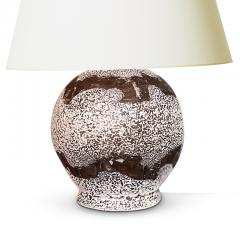 Jean Besnard Table Lamp with Painterly Banding in the Style of Besnard - 1776283