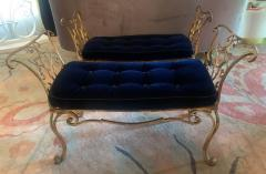 Jean Charles Moreux Pair of Jean Charles Moreux Gilt Wrought Iron Benches - 1675365