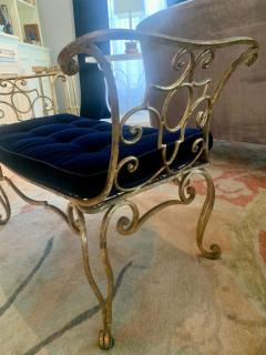 Jean Charles Moreux Pair of Jean Charles Moreux Gilt Wrought Iron Benches - 1675377