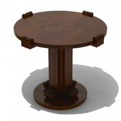 Jean Charles Moreux Sculptural Low Round Table in Figured Walnut by Jean Charles Moreux - 469613