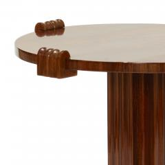 Jean Charles Moreux Sculptural Low Round Table in Figured Walnut by Jean Charles Moreux - 469616