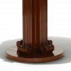 Jean Charles Moreux Sculptural Low Round Table in Figured Walnut by Jean Charles Moreux - 469618