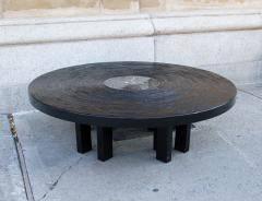 Jean Claude Dresse Black Lacquered Resin Coffee Table by Jean Claude Dresse - 230161