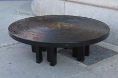 Jean Claude Dresse Black Lacquered Resin Coffee Table by Jean Claude Dresse - 230162