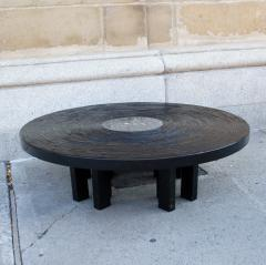 Jean Claude Dresse Black Lacquered Resin Coffee Table by Jean Claude Dresse - 230163