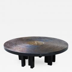Jean Claude Dresse Black Lacquered Resin Coffee Table by Jean Claude Dresse - 233339