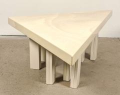 Jean Claude Dresse Modernist Triangular Coffee Table by Jean Claude Dresse - 772321
