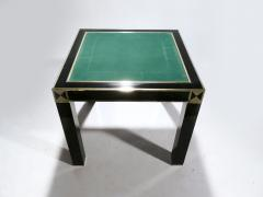 Jean Claude Mahey J C Mahey lacquered and brass game table 1970s - 989384