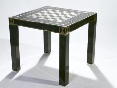Jean Claude Mahey J C Mahey lacquered and brass game table 1970s - 989391