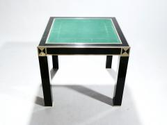 Jean Claude Mahey J C Mahey lacquered and brass game table 1970s - 989392