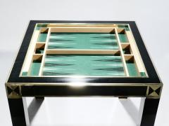 Jean Claude Mahey J C Mahey lacquered and brass game table 1970s - 989393
