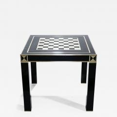Jean Claude Mahey J C Mahey lacquered and brass game table 1970s - 990914