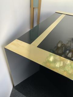 Jean Claude Mahey Lacquered and Brass Desk side box by Jean Claude Mahey France 1970s - 1039032