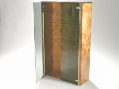 Jean Claude Mahey Pair of French J C Mahey brass and burlwood vitrines 1970s - 989465