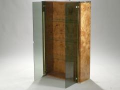 Jean Claude Mahey Pair of French J C Mahey brass and burlwood vitrines 1970s - 989468