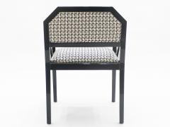 Jean Claude Mahey Rare Set of four Hollywood Regency black lacquer chairs J C Mahey 1970s - 997199