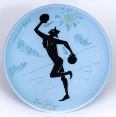 Jean Cocteau Contre Jour Ceramic Plate - 1333248