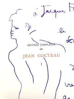 Jean Cocteau Exceptional set of complete works dedicated with 8 original endpage drawings - 1052454