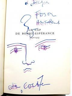 Jean Cocteau Exceptional set of complete works dedicated with 8 original endpage drawings - 1052462