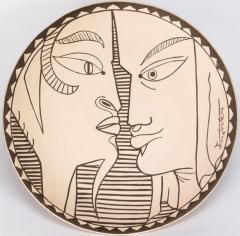 Jean Cocteau Indes Ceramic Plate - 1333271