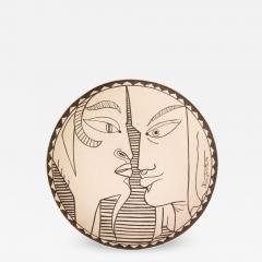 Jean Cocteau Indes Ceramic Plate - 1334952