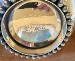 Jean Despres Jean Despres French Silver Plate Metal Bowl Unique Design - 1807051