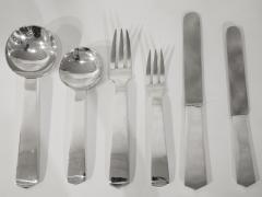 Jean Despres Silver plated cutlery set by Jean Despr s circa 1950 - 969818