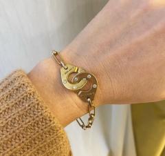 Jean Dinh Van Dinh Van France Estate Two Color Gold and Diamond Menottes Bracelet - 2017279