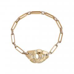 Jean Dinh Van Dinh Van France Estate Two Color Gold and Diamond Menottes Bracelet - 2021130
