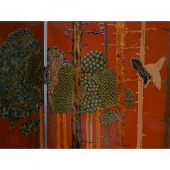 Jean Dunand La Chasse 4 Panel Folding Screen by Jean Dunand - 189246