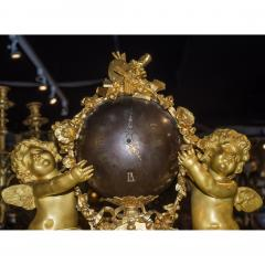 Jean Fran ois Deni re A Fine Quality Napoleon III Ormolu and Patinated Bronze Figural Mantel Clock - 1435200