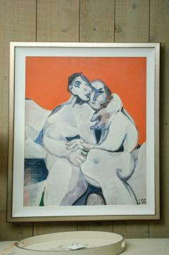 Jean Georges Chape The Lovers Oil on Canvas by Jean Georges Chape - 651977